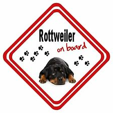Rottweiler On Board Car Sign Any Design Have it Your Way Personalised