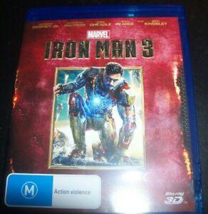 Iron Man 3 (Robert downey Jr) 3D (Australia Region B) 3D BLURAY – Like New