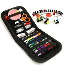 46 Piece Portable Travel Small Home Sewing Kit Case Needle Thread Scissor Set