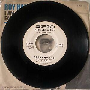 Roy Hamilton - Earthquake/I am - Epic Ex demo pic sleeve