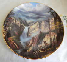 Peaceful Solitude Plate God Bless America Featuring Yellowstone National Park