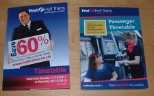 FIRST HULL TRAINS RAILWAY TIMETABLES - LONDON TO HULL SERVICES - 2011 AND 2014