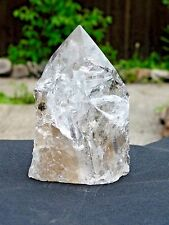 "1) Large Natural Clear Quartz Crystal Point Brazil Natural  5"" Top Grade"