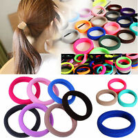 20pcs Elastic Rope Ring Hairband Women Girl Hair Bands Tie Ponytail Holder Color