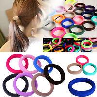10P Colorful Elastic Rope Ring Hairband Women Girls Ponytail Holder Hair Band OF