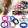10X Colorful Elastic Rope Ring Hairband Women Girls Ponytail Holder Hair Band JB