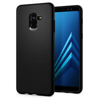 For Galaxy A8 / A8 Plus | Spigen® [Liquid Air] Black Slim Protective Case Cover
