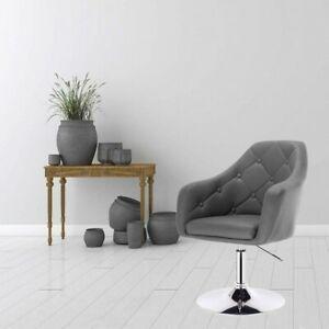 Leatherette bar chair - model Aria grey
