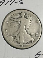 1917-S Silver Walking Liberty Half Dollar in about Good Condition