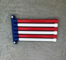 Patriotic Towel Rack, For Pool & Spa, Wall Mount, 6 Bar, American Flag, USA