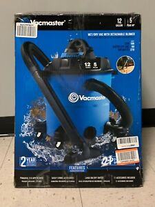 Vacmaster 12 Gallon 5 Peak HP VBV1210 Wet/Dry with Detachable Blower *AS-IS*