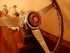 "Jaguar XK150  Wood Steering Wheel Nardi 15"" Engraved + Rivets Orig XK150 Center"