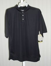 Polo Shirt Short Sleeve Gold's Gym Black Size Large
