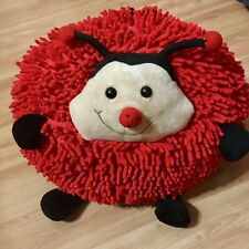 RARE FIND Kreative Kids Girls Red Ladybug Plush Pillow Stuffed Animal Round LRG