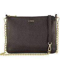 Lodis Convertible Cross Body Bag Black Leather Purse 5 in 1