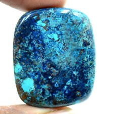 Cts. 48.8 Natural Azure Color Azurite Cabochon Cushion Cab Loose Gemstone