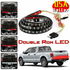 60 Inch 2-Row LED Truck Tailgate Light Bar Strip Red + White Reverse Stop Signal