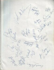 1991 Indiana Pacers & Hartford Autographed Page by 35 w/ Reggie Miller Vin Baker
