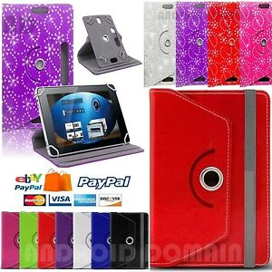 """Universal Rotating Folio Case Cover For Android Tablet PC 7"""" 8"""" 9"""" 9.7"""" 10/10.1"""""""