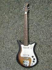 Vintage 60s Teisco Decca TULIP Guitar '3-D' Metal Pickguard JAPAN ! WIRING MOD