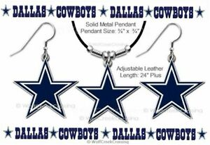 DALLAS COWBOYS NECKLACE & EARRINGS SET - HOT NFL FOOTBALL GIFT - FREE SHIP  #BL'