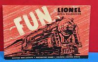 """Vintage Lionel Model Railroading Train Book """"FUN WITH LIONEL RAILROADING"""" 1947"""