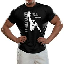 KettleBell Push your Limits T shirt Girevik Sports Training Workout Fitness Gym