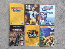 6 Nintendo 64 Instruction booklets