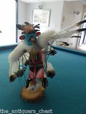"Kachina Katsina ""Eagle Dance"" by Spencer,  Hand carved and painted  carving"