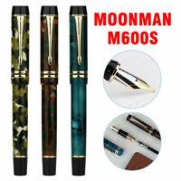 Moonman M600s Acrylic Resin Fountain Pen Iridium Fine Nib Writing Pen Gifts