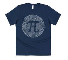 Pi Day Spiral T-shirt Tee Funny Gift Joke Nerd Geek Maths Mathematician Men's
