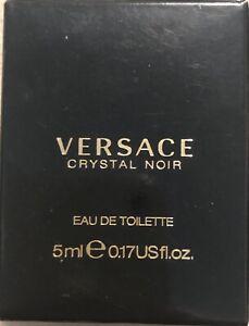 BRAND NEW Versace Crystal Noir 0.17oz Women's Perfume Eau De Toilette