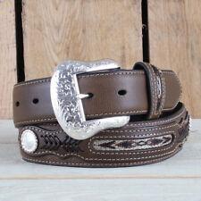 Nocona Western Belt Mens Top Hand Southwest Black Brown N2475701 38