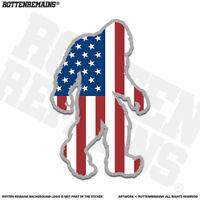 United States Flag Bigfoot Decal Sticker USA Sasquatch Big Foot V2 jan