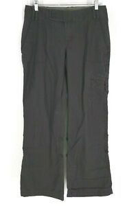 THE NORTH FACE  - WOMEN'S SIZE 8  - GRAY COTTON ROLL UP LEG CARGO PANTS