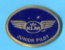 KLM Royal Dutch Airlines Junior Pilot Wings Badge