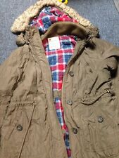 American Eagle Outfitters Green Army Coat Size Xl Removable Hood