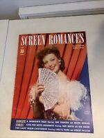 1941 MAY SCREEN ROMANCES MAGAZINE - LORETTA YOUNG Joan Crawford Mary Martin Ads