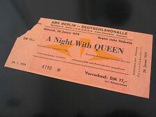 QUEEN : Live Killers 1979 German Crazy Tour Concert Ticket Stub Deutschland