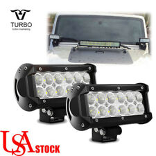 2Pcs 7 inch 36W LED Work Light Bar Flood Driving Fog Lamp Offroad Truck Lights