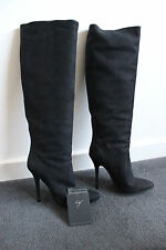 GIUSEPPE ZANOTTI Black Suede Boots - Size EU 39 AU 8-8.5 - New