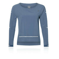 Asics Womens Lite-Show Long Sleeve Top Blue Sports Running Breathable Reflective