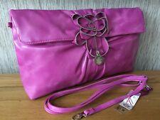 PURO rosa caldo spalla Crossbody pochette nuova con etichetta