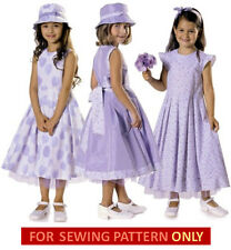 SALE! SEWING PATTERN! MAKE GIRLS DRESS~HAT~PETTICOAT! SUMMER CLOTHES~SIZE 2~7 YR