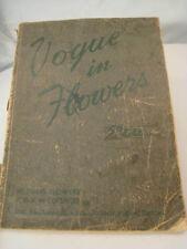 Antique Vintage Wedding Floral Design Arrangement Book Vogue In Flowers