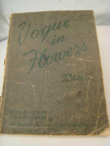 Antique Vintage Wedding Floral Design Arrangement Book Vogue In Flowers