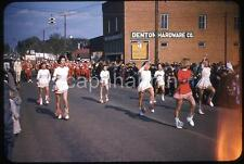 Pretty Majorette Girls Twirl Batons DENTON NC Parade Vtg 1950s Slide Photo