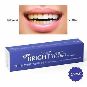 AsaVea Teeth Whitening Pen, 2 pens, Effective, Painless, Travel Friendly
