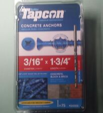 Tapcon 3/16 x 1-3/4-Inch Phillips Head Concrete Anchors, 75-Pack