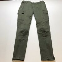 INC International Concepts Olive Green Skinny Cargo Zip Ankle Pants Sz 10 A1016